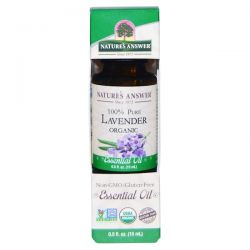 Nature's Answer, Organic Essential Oil, 100% Pure Lavender, 0.5 fl oz (15 ml) Pozostałe