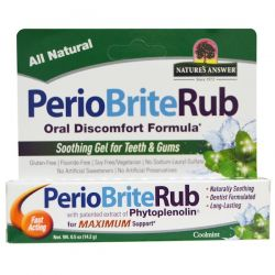 Nature's Answer, PerioBriteRub, Soothing Gel for Teeth & Gums, Cool Mint, 0.5 oz (14.2 g) Biografie, wspomnienia