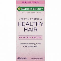 Nature's Bounty, Optimal Solutions, Healthy Hair Keratin Formula, 60 Capsules