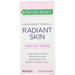 Nature's Bounty, Optimal Solutions, Radiant Skin, Ceramosides Formula, 40 Softgels