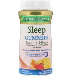 Nature's Bounty, Sleep Gummies, Tropical Punch Flavored, 60 Gummies Pozostałe