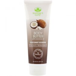 Nature's Gate, Body Butter, Coconut Scented, 8 fl oz (237 ml) Pozostałe