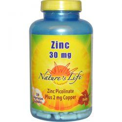 Nature's Life, Zinc, 30 mg, 250 Veggie Caps Biografie, wspomnienia