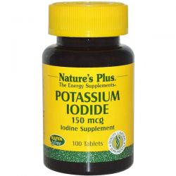 Nature's Plus, Potassium Iodide, 150 mcg, 100 Tablets