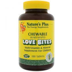 Nature's Plus, Love Bites Multi-Vitamin & Mineral, Supplement For Children, 180 Chewable Tablets Pozostałe