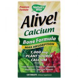 Nature's Way, Alive! Calcium, Bone Formula, 120 Tablets Biografie, wspomnienia