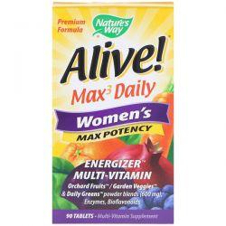 Nature's Way, Alive, Women's Max Potency, 90 Tablets Biografie, wspomnienia