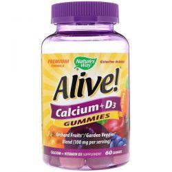 Nature's Way, Alive! Calcium + D3, 60 Gummies Pozostałe
