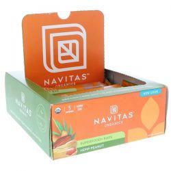Navitas Organics, Superfood + Bars, Hemp Peanut, 12 Bars, 16.8 oz (480 g) Each Pozostałe