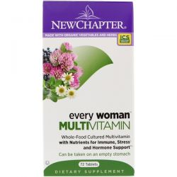 New Chapter, Every Woman, Multivitamin, 72 Tablets