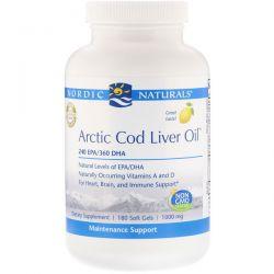 Nordic Naturals, Arctic Cod Liver Oil, Lemon, 1000 mg, 180 Softgels Biografie, wspomnienia