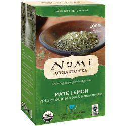 Numi Tea, Organic Tea, Green Tea, Mate Lemon, 18 Tea Bags, 1.46 oz (41.4 g) Biografie, wspomnienia