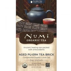 Numi Tea, Organic Tea, Pu-erh Tea, Aged Pu-erh Tea Brick, 2.2 oz (63 g)