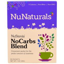 NuNaturals, NuStevia, No Carbs Blend, 50 Packets, 1 oz (29 g) Pozostałe