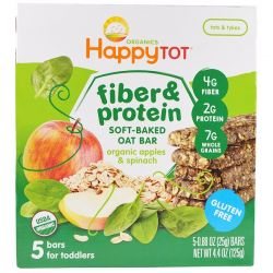 Nurture Inc. (Happy Baby), Happytot, Fiber & Protein Soft-Baked Oat Bar, Organic Apples & Spinach, 5 Bars, 0.88 oz (25 g) Each Biografie, wspomnienia