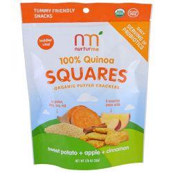 NurturMe, 100% Quinoa Squares, Toddler + Kid, Sweet Potato + Apple + Cinnamon, 1.76 oz (50 g) Pozostałe