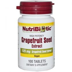 NutriBiotic, Grapefruit Seed, Extract, 125 mg, 100 Tablets Pozostałe
