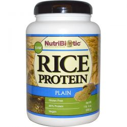 NutriBiotic, Raw Rice Protein, Plain , 1 lb. 5 oz (600 g) Pozostałe