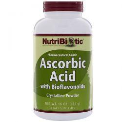 NutriBiotic, Ascorbic Acid with Bioflavonoids, Crystalline Powder, 16 oz (454 g) Pozostałe