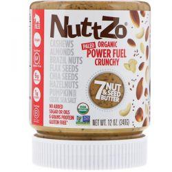 Nuttzo, Organic, Power Fuel, 7 Nut & Seed Butter, Crunchy, 12 oz (340 g)