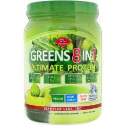 Olympian Labs Inc., Greens 8 in 1, Ultimate Protein, Blueberry Flavor, 21.848 oz (619.22 g) Biografie, wspomnienia
