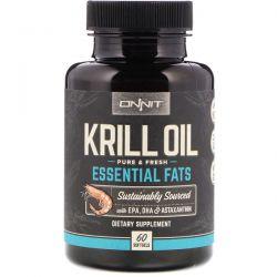 Onnit, Krill Oil, Essential Fats, 60 Softgels Biografie, wspomnienia
