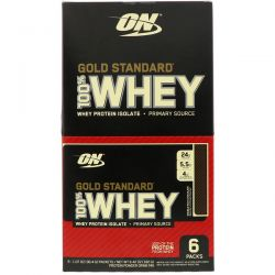 Optimum Nutrition, Gold Standard 100% Whey, Double Rich Chocolate, 6 Packs, 1.07 oz (30.4 g) Each