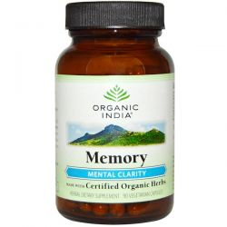 Organic India, Memory, Mental Clarity, 90 Veggie Caps Biografie, wspomnienia