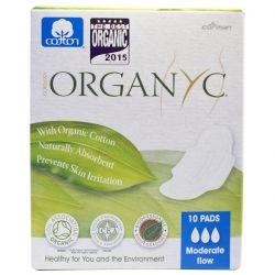 Organyc, Menstrual Pads, Moderate Flow, 10 Pads Pozostałe