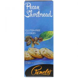 Pamela's Products, Gluten-Free Cookies, Pecan Shortbread, 7.25 oz (206 g) Biografie, wspomnienia