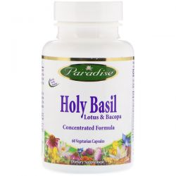 Paradise Herbs, Holy Basil, Lotus & Bacopa, 60 Vegetable Capsules Biografie, wspomnienia