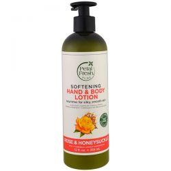 Petal Fresh, Pure, Softening Hand & Body Lotion, Rose & Honeysuckle, 12 fl oz (355 ml)