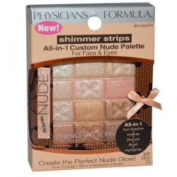 Physician's Formula, Inc., Shimmer Strips, All-in-1 Custom Nude Palette, Warm Nude, 0.26 oz (7.5 g)