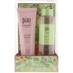 Pixi Beauty, Skin Treats Besties, Rose Cream Cleanser + Rose Tonic, 2 Piece Kit