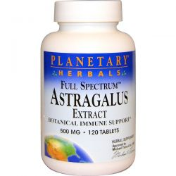 Planetary Herbals, Astragalus Extract, Full Spectrum, 500 mg, 120 Tablets
