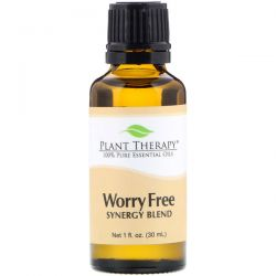 Plant Therapy, 100% Pure Essential Oils, Worry Free, 1 fl oz (30 ml)