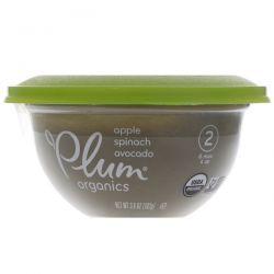 Plum Organics, Baby Bowl, Stage 2, Apple, Spinach & Avocado, 3.6 oz (102 g)