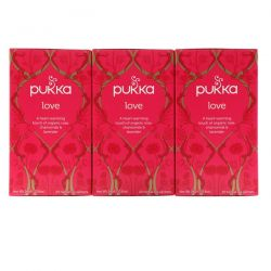 Pukka Herbs, Love, Organic Rose, Chamomile & Lavender Tea, Caffeine Free, 3 Pack, 20 Herbal Tea Sachets Each
