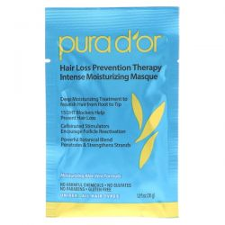 Pura D'or, Hair Loss Prevention Therapy, Intense Moisturizing Masque, 8 Packets, 1.2 fl oz Each