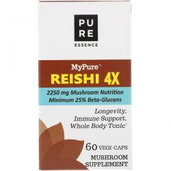 Pure Essence, MyPure, Reishi 4X, 60 Vegi-Caps Pozostałe
