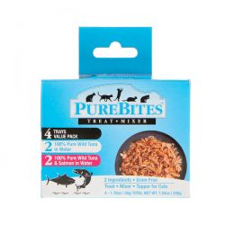 Pure Bites, Treat Mixer, For Cats, 2 Wild Tuna, 2 Wild Tuna & Salmon, 4 Pack, 1.76 oz (50 g) Each