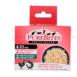 Pure Bites, Treat Mixer, For Cats, 2 Chicken & Shrimp, 4 Pack, 1.76 oz (50 g) Each