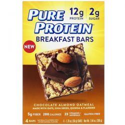 Pure Protein, Breakfast Bars, Chocolate Almond Oatmeal, 4 Bars, 1.76 oz (50 g) Each Biografie, wspomnienia