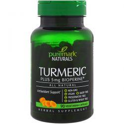 PureMark Naturals, Turmeric, 90 Vegetarian Capsules Pozostałe