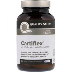 Quality of Life Labs, Cartiflex, 60 Capsules Biografie, wspomnienia