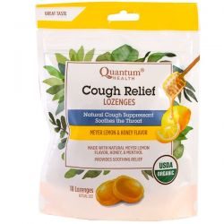 Quantum Health, Cough Relief, Lozenges, Meyer Lemon & Honey Flavor , 18 Lozenges Biografie, wspomnienia