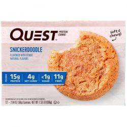 Quest Nutrition, Protein Cookie, Snickerdoodle, 12 Cookies, 2.04 oz (58 g) Each Biografie, wspomnienia