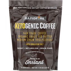RAPIDFIRE, Ketogenic Coffee, 7.93 oz (225 g) Biografie, wspomnienia