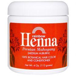 Rainbow Research, Henna, Hair Color and Conditioner, Mahogany (Medium Auburn), 4 oz (113 g) Pozostałe