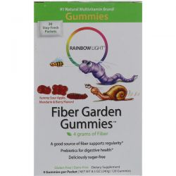 Rainbow Light, Fiber Garden Gummies, Sour Berry, Apple & Mandarin Flavors, 30 Packets, 4 Gummies (8 g) Each Biografie, wspomnienia